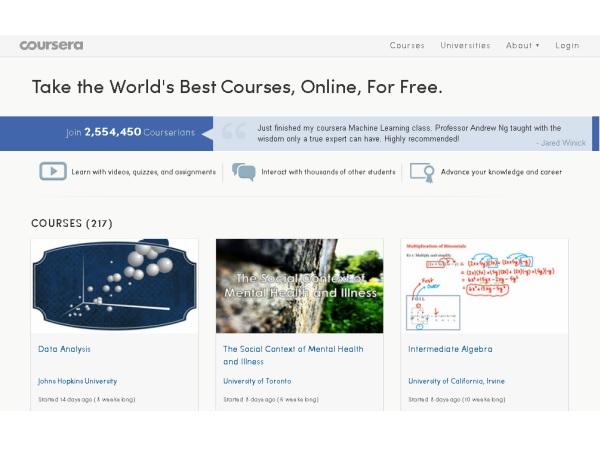世界レベルのさまざまな講義をオンラインで!しかも無料で受講できる「Coursera」
