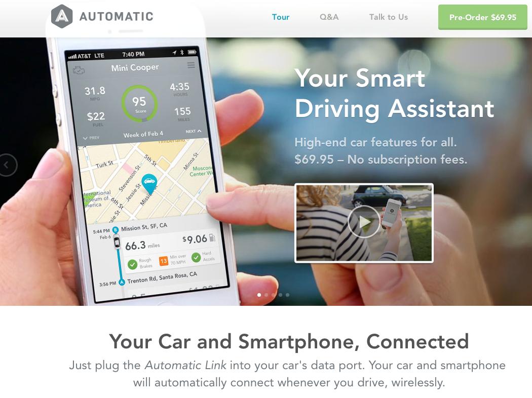 """""""賢い""""運転をアシスト 燃費向上のアドバイスや異変時のアラーム発信をしてくれる「Automatic」"""