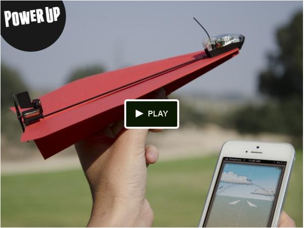 紙飛行機が10分間空を飛ぶ!夢のようなトイツール「PowerUp 3.0」が登場
