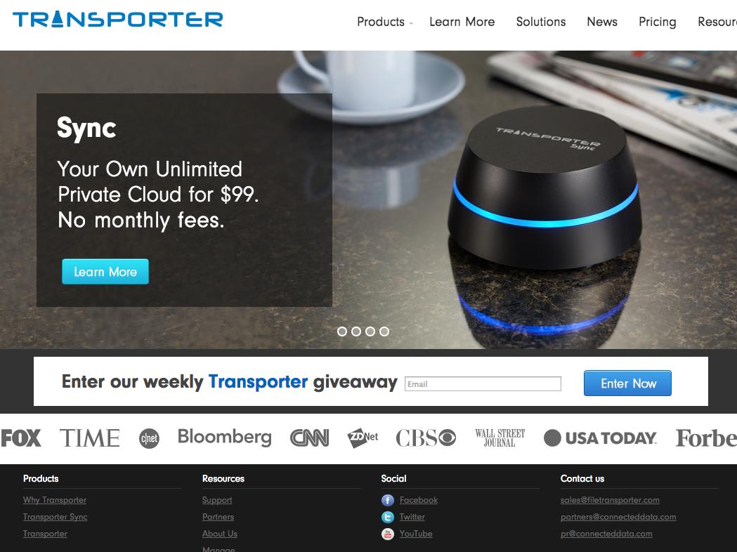 クラウドを使わずにデータ共有を可能にするガジェット「Transporter Sync」