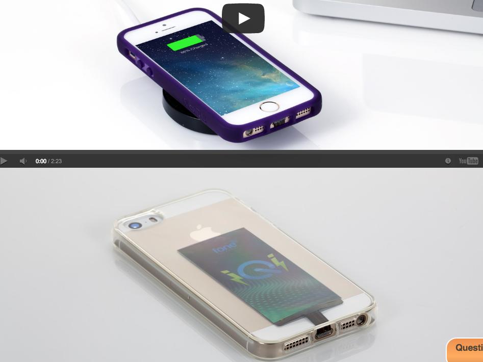 ワイヤレスでiPhoneを充電できる超薄型電気レシーバー「iQi」 専用パックに載せるだけの手軽さ