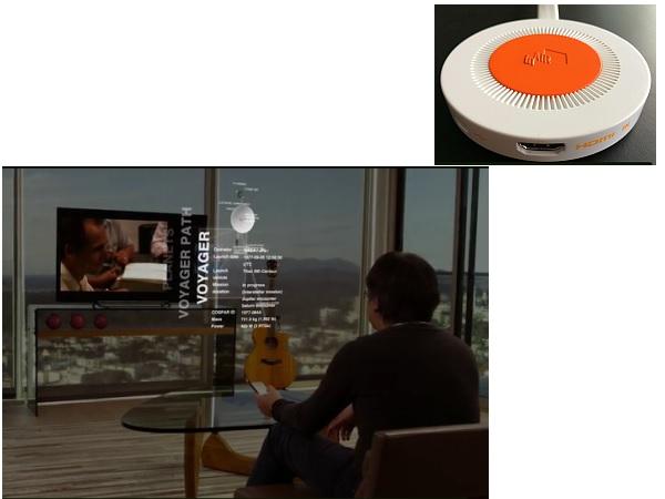 テレビ画面にWebコンテンツが3Dで浮かび上がる!世界初のAR(拡張現実)テレビ