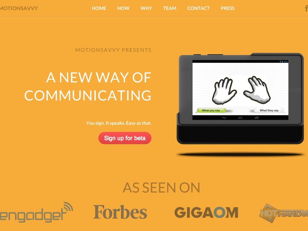 手話を音声化するソフトウェアが開発中、聴覚障がい者の会話をサポート