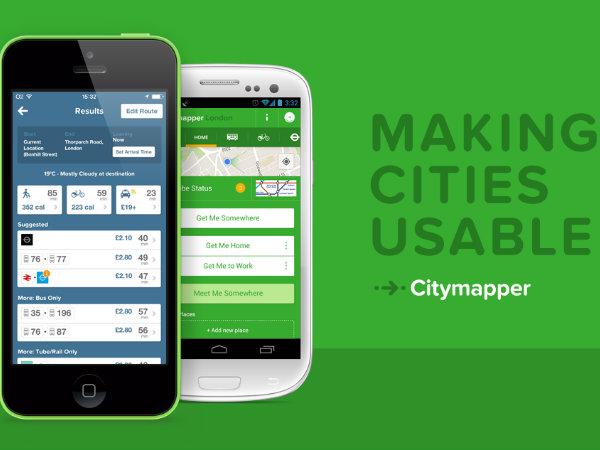 移動ルート検索アプリ「Citymapper」