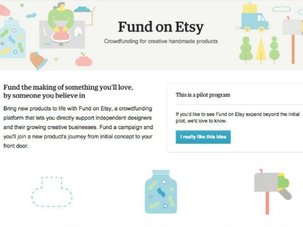 Etsyのクラウドファンディングサービス「Fund on Etsy」