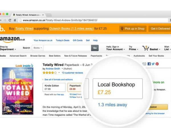 Bookindyをインストールした場合のアマゾン・ドット・コムの書籍ページ