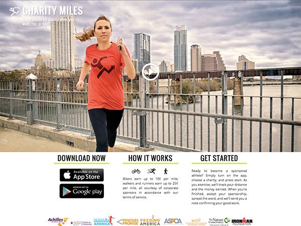 毎日のランニングを寄付金に変えるアプリ「Charity Miles」