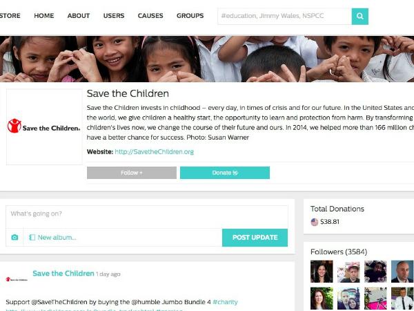 TPOで公開されている「Save the Children」のページ