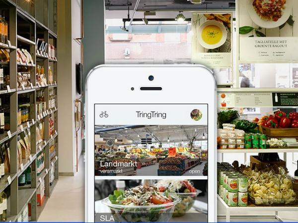 Tring Tringのスマートフォンアプリ画面サンプル