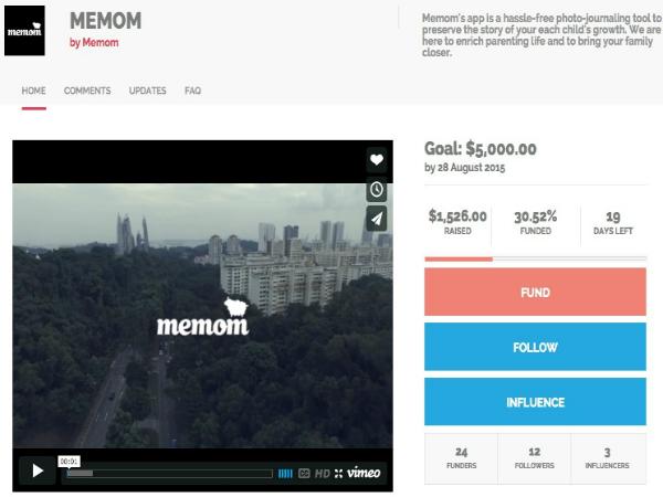 Woomentum Fundでクラウドファンディングを実施しているMemom