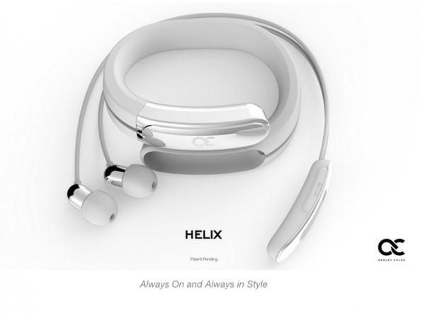 0fcb99b415 これ便利!ブレスレットとして携帯できるBluetoothイヤホン「HELIX ...