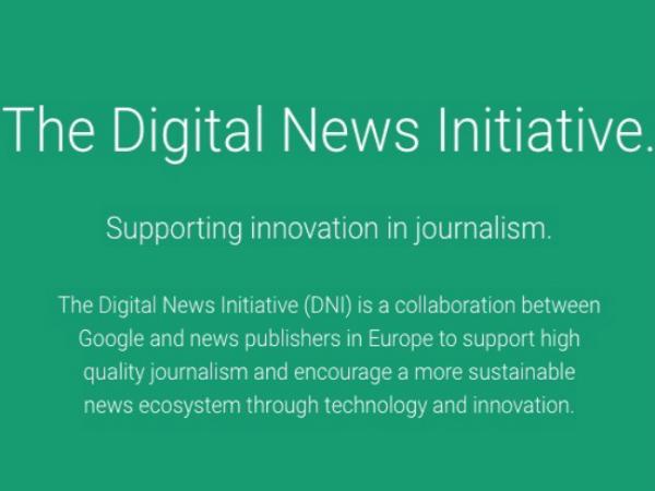 「The Digital News Initiative」の公式ウェブサイト