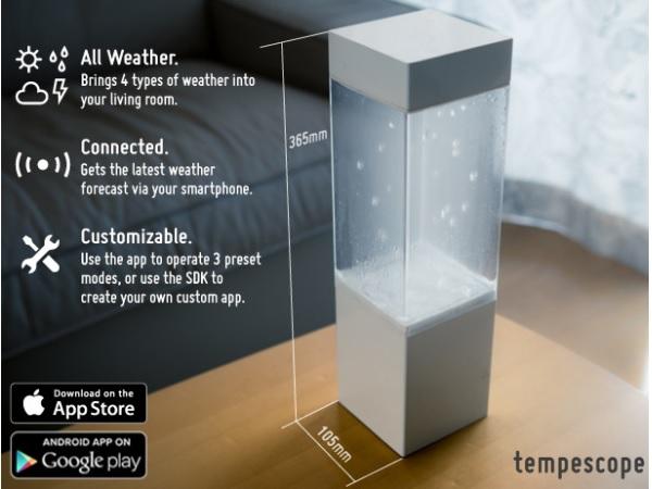 オシャレなインテリアとしても!一目で天気予報がわかるデバイス「tempescope」が面白い