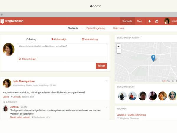 Fragnebenanのユーザーページ(サンプル)