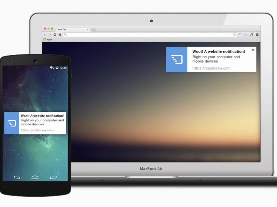 マーケティングに!ウェブからデスクトップとモバイルにプッシュ通知できる「Pushcrew」