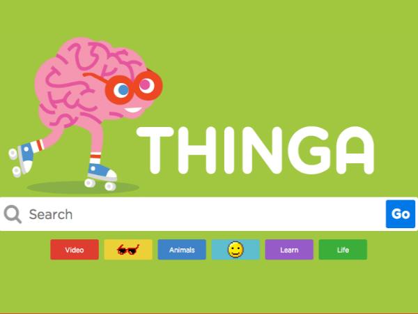 子ども向け検索サイト「Thinga」