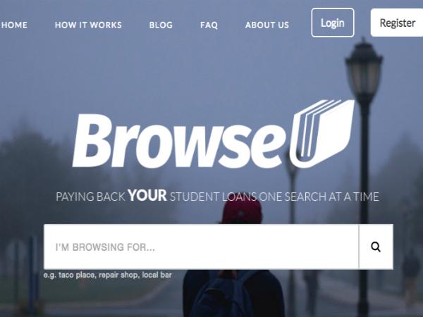 広告収入の一部を学生ローンの返済資金に割り当てる検索エンジン「BrowseU」