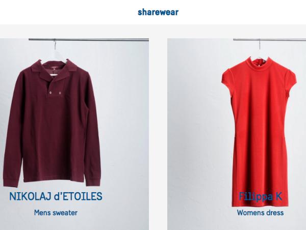 ShareWearで提供されているファッションアイテム