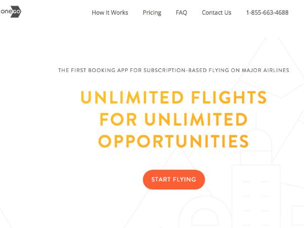 世界初の飛行機乗り放題サービス「OneGo」