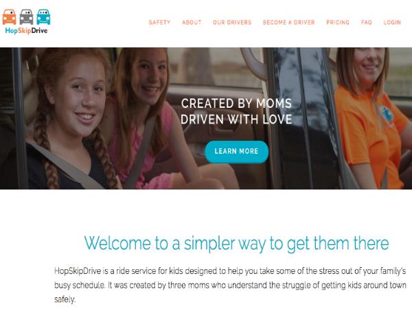 子ども専用オンデマンド配車サービス「HopSkipDrive」