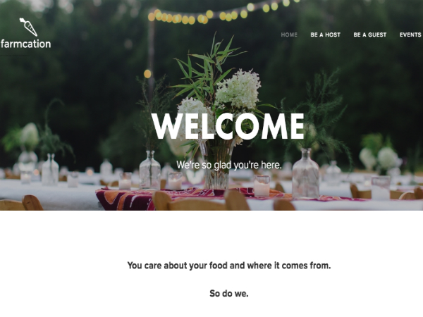 アグリツーリズムのためのAirbnb「Farmcation」