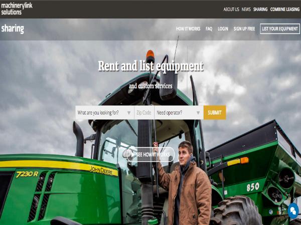 農業機械のための貸し借りプラットフォーム「MachineryLink Sharing」