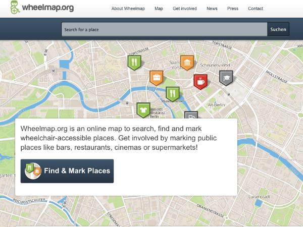 バリアフリーなスポットを可視化するオンラインマップ「Wheelmap」