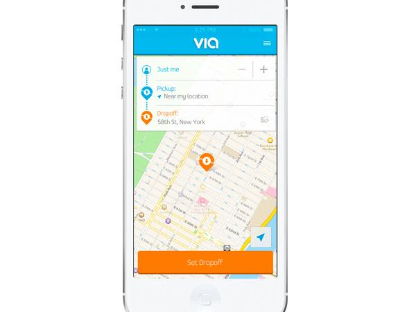 Viaのスマートフォンアプリ