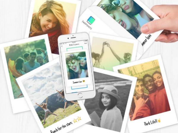 スマホ画像でオリジナル絵はがきを作成できる「Swapshots」