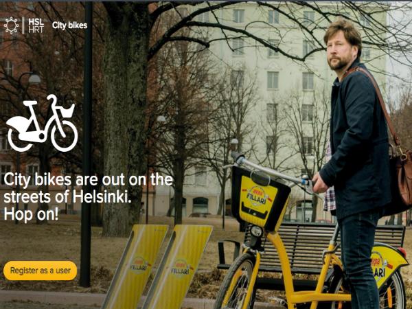 ヘルシンキのバイクシェアリングサービス「City bikes」