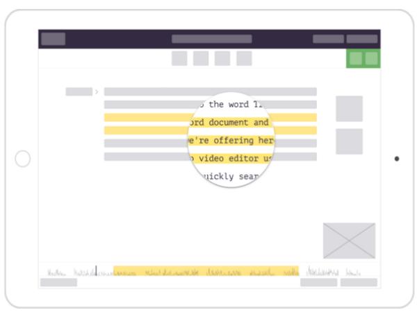 「Trint」のモバイル端末画面(イメージ)