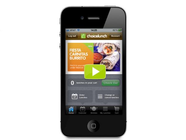 Choicelunchのモバイルアプリ