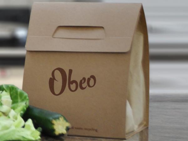 Obeoが開発した食料廃棄物専用の紙袋