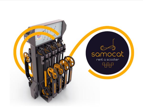 Samocatのキックスケーター専用貸出ステーション