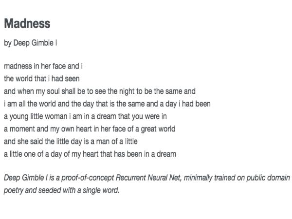 CuratedAIに掲載されている人工知能で執筆された詩