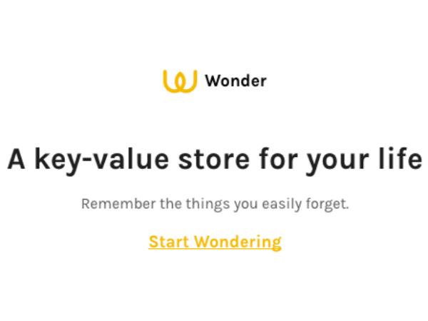 SMSを活用した備忘ツール「Wonder」