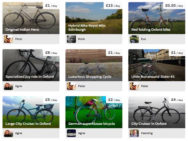 Cycle.landに登録されている自転車リスト