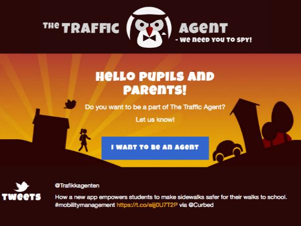 オスロの通学路の現状をクラウドソーシングでマップ化する「Traffic Agent」