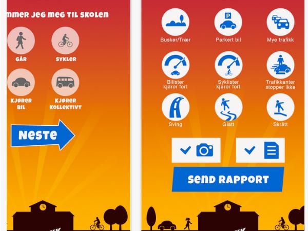 「Traffic Agent」スマホアプリ画面