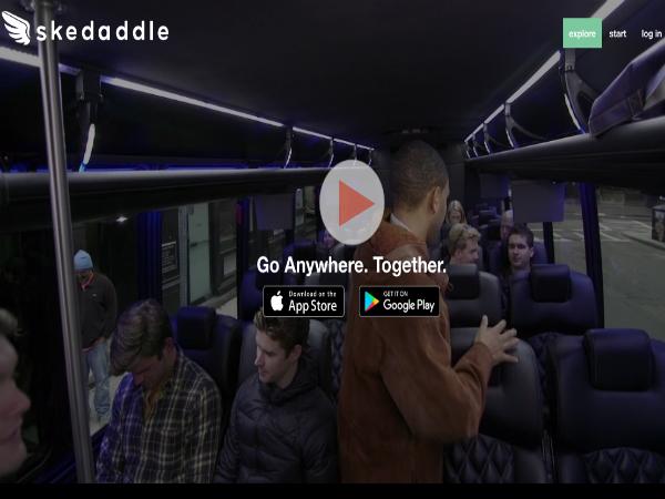 相乗りグループを集めてバスを貸し切るサービス「Skedaddle」