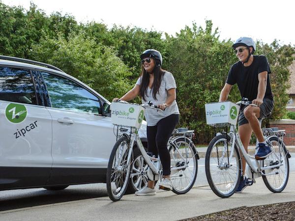 Zipcarによるバイクシェアリングサービス「Zipbike」