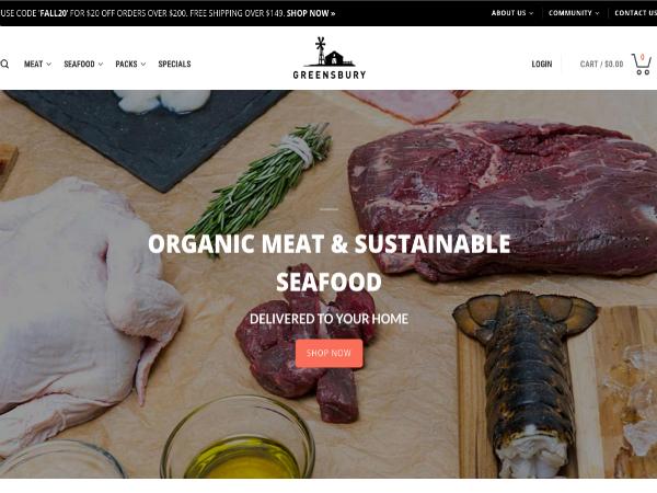 肉と魚介類に特化したオンラインマーケットプレイス「Greensbury Market」