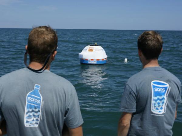 「Saros」の海上での実証実験