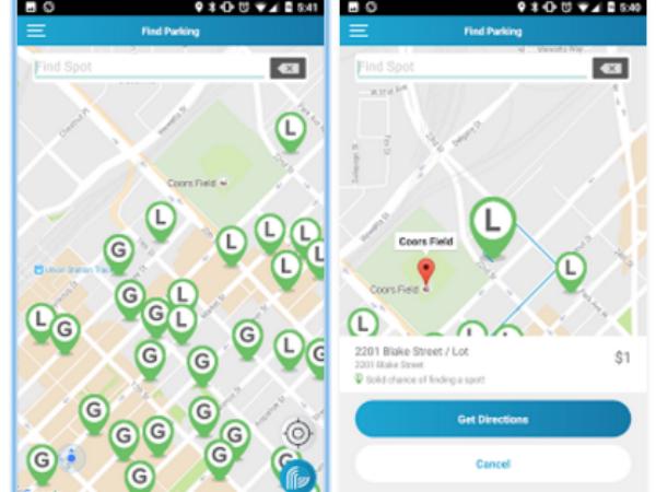 スマホアプリ「ParkiFi」の画面