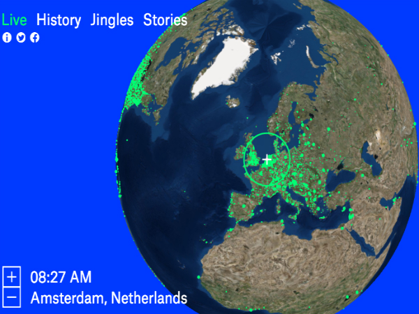 世界中のラジオ番組を聴けるウェブアプリ「Radio Garden」