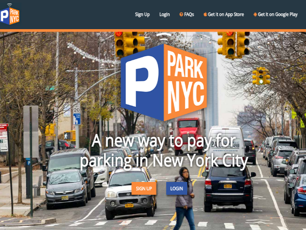ParkNYCの公式ウェブサイト