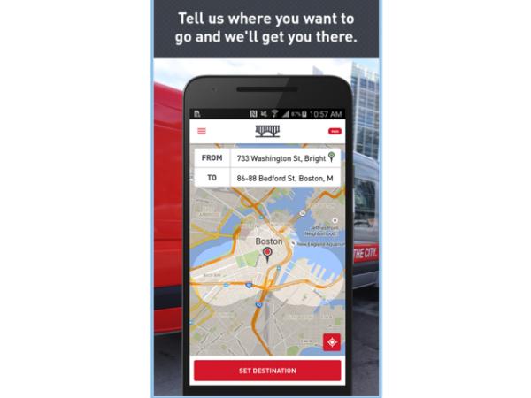 スマホアプリ「Bridj」の画面
