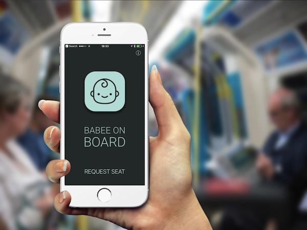 モバイルアプリ版のマタニティマーク「BabeeOnBoard」