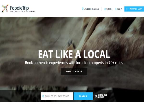 地元のフードガイドと観光客をつなぐ「FoodieTrip」