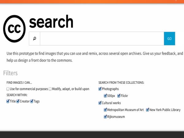 クリエイティブ・コモンズが開設した「CC Search」